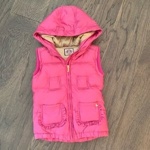 Girls Juicy Couture fuchsia pink puffer vest